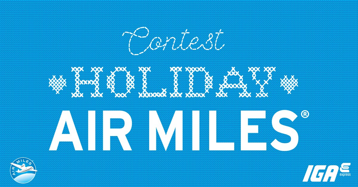 Contest Holiday AIR MILES®