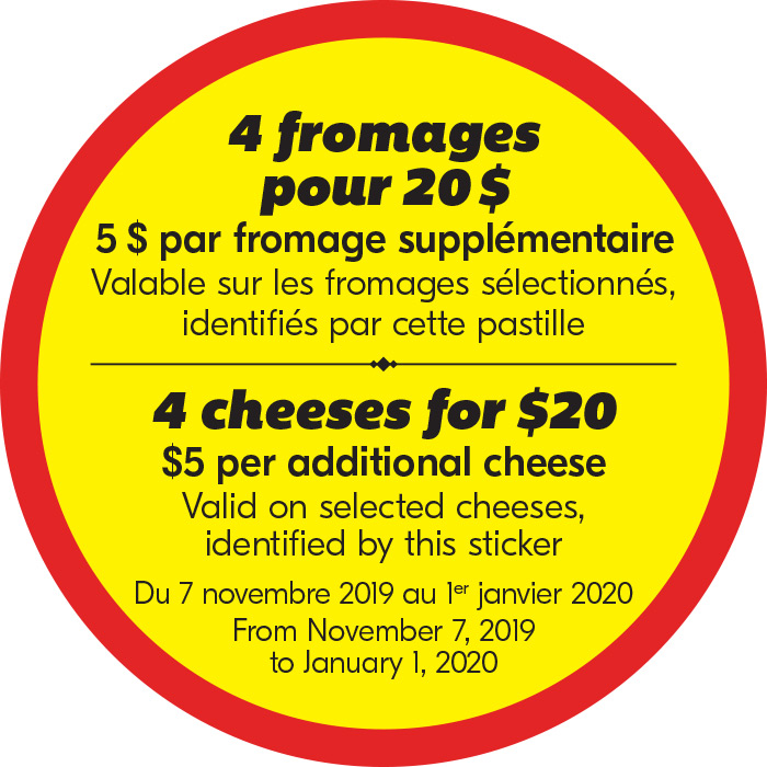 4 fromages pour 20$