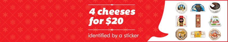 4 cheeses for $20