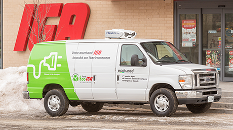 Canada's first electric converted refrigerated home delivery van
