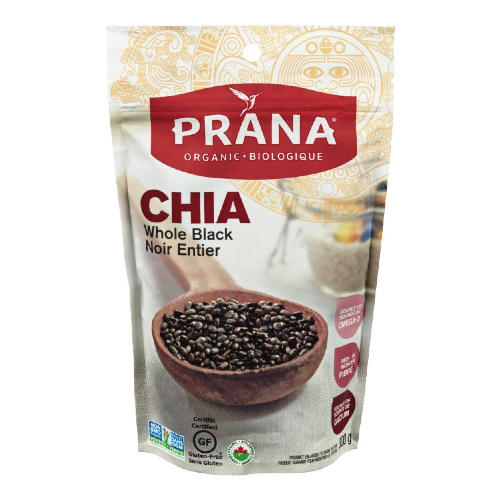 PRANA Organic Whole Black Chia Seeds