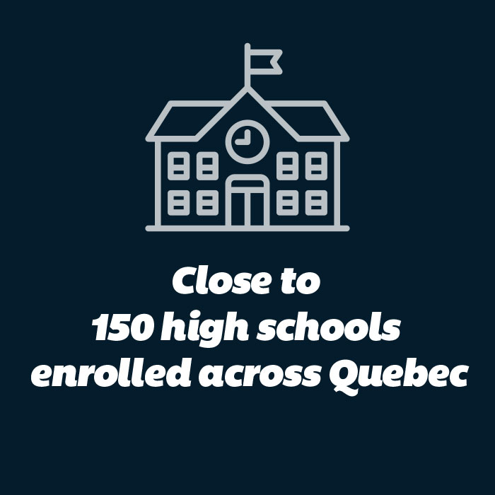 Close to 150 high schools enrolled across Quebec