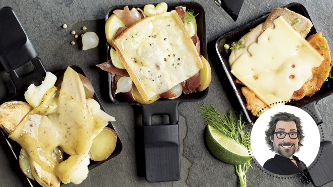 3 combinations raclette