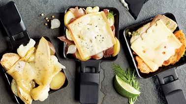 3 Raclette combinations from Christian Bégin