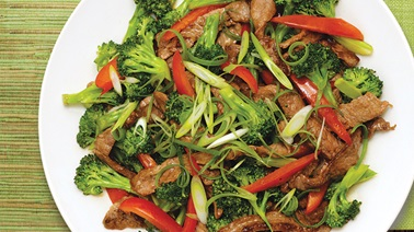 Teriyaki beef and broccoli