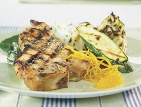 Orange and Maple Grilled Quebec Milk-Fed Veal Chops