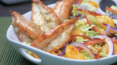 Lemongrass Jumbo Shrimp and Mandarin Slaw