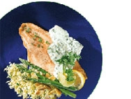 Trout fillets in a creamy herb sauce