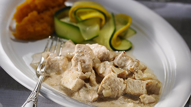 Turkey and Maple Fricassee