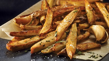 Oven-baked tarragon fries