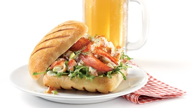 Creative lobster roll