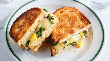 Grilled cheese au kale de Ricardo