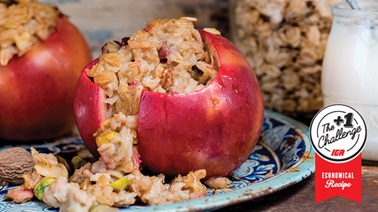 Oatmeal in apples