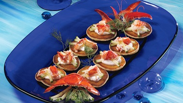 Lobster blini