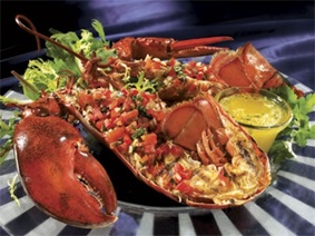 Grilled lobster with italian salsa