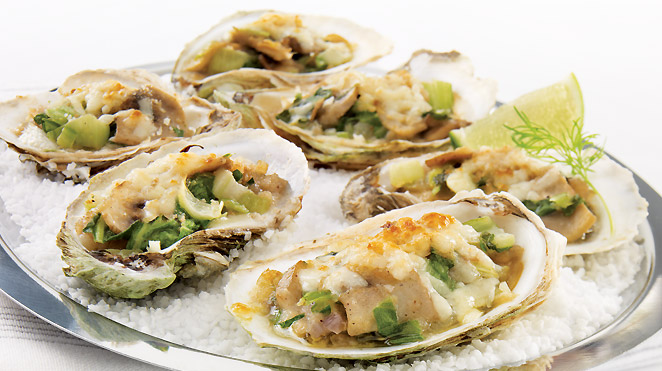 Oysters Rockefeller new style