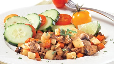 Veal hash with root vegetables