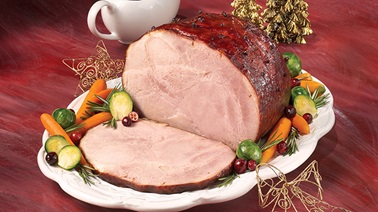 Glazed Ham with Cranberries and Rosemary
