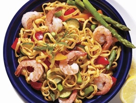Shrimp and Pesto Linguine
