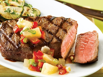 Aaa angus beef medallions and piquant pineapple relish - Cuisiner tournedos de boeuf ...