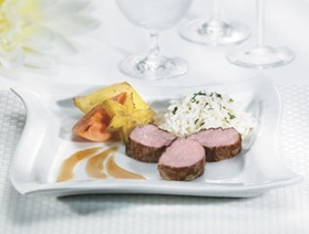 Medallions of Quebec Milk-Fed Veal with a Sauce of Exotic Fruits