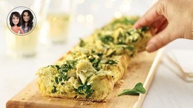 Spinach & artichoke bread appetizers from Alexandra Diaz and Geneviève O'Gleman