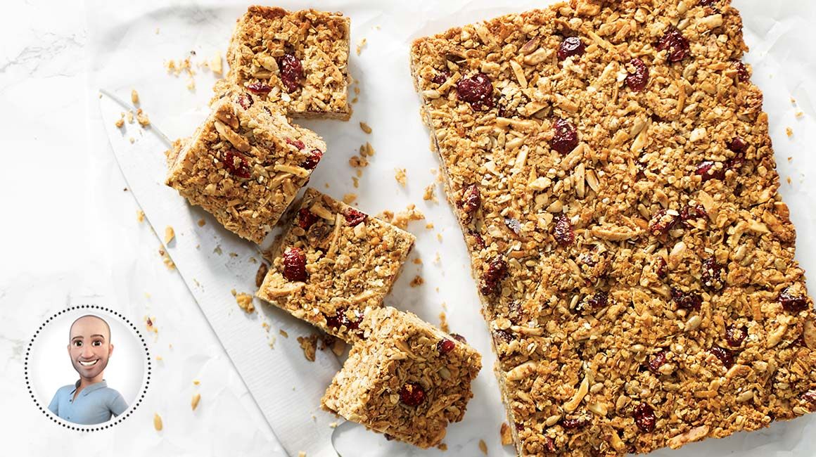 Cranberry and coconut granola bars from Stefano Faita