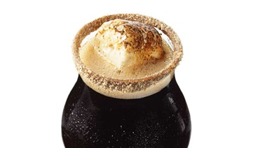 S'mores black beer cocktail
