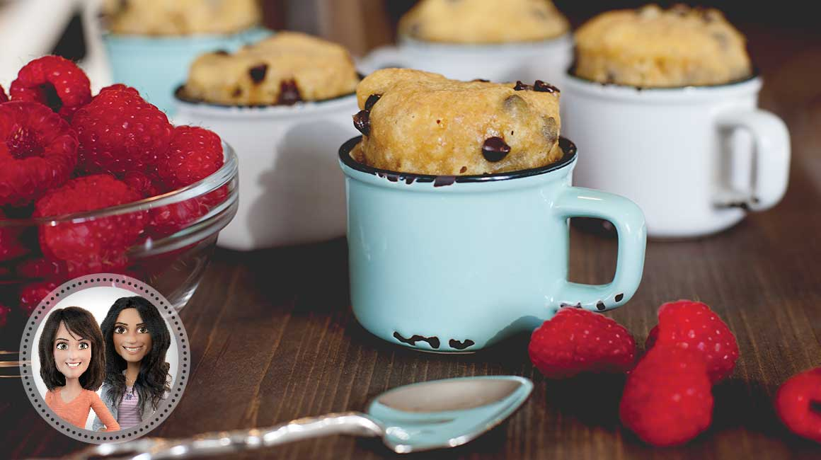 Chocolate chip cookie in a cup