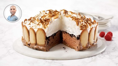Chocolate baked alaska from Stefano Faita