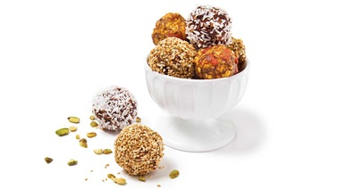 """Apple & goji berry pie"" energy balls"