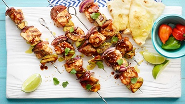 Mexican-style chicken brochettes