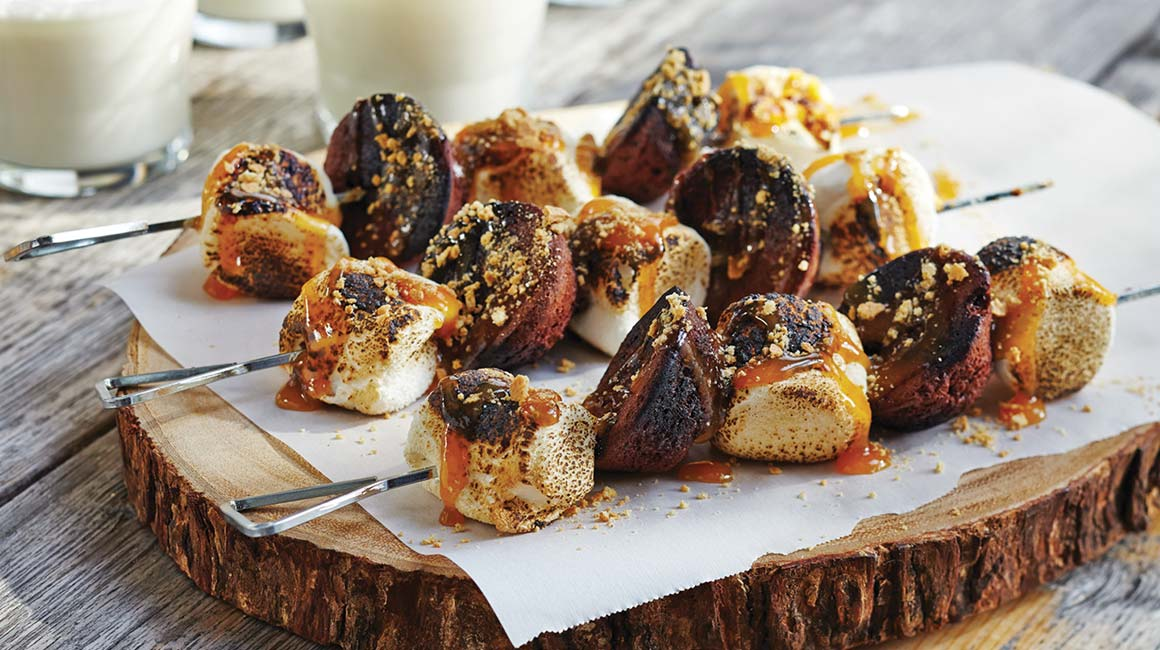 S'more brochettes