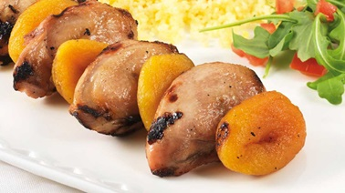 Quail Breast and Apricot Skewers