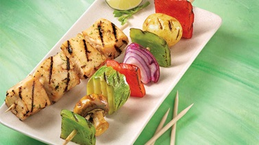 Vegetable Brochettes with Lime