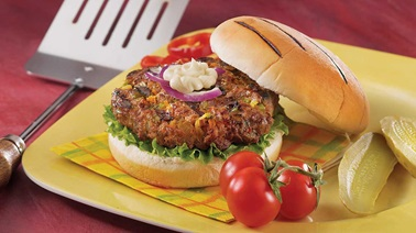 Buffalo Burger with Grilled Vegetables