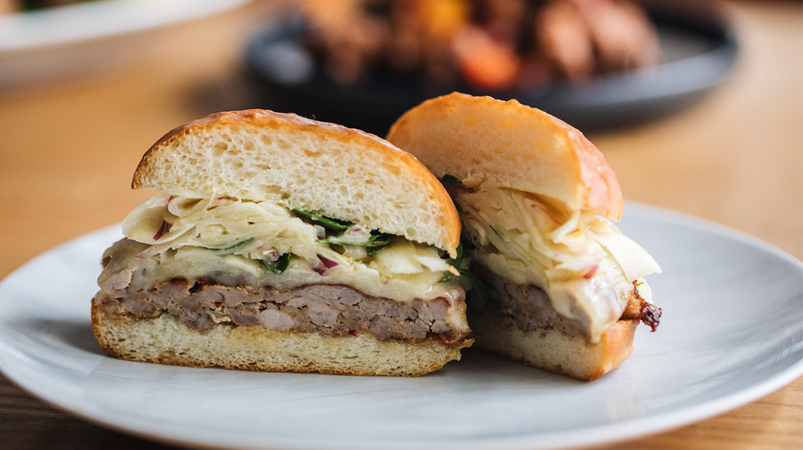 Italian Sausage Burgers with Fennel Salad