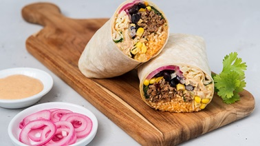 Spicy Chipotle Beef and Pickled Onion Burrito Grande