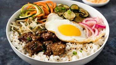 Pork and Fried Egg Bibimbap