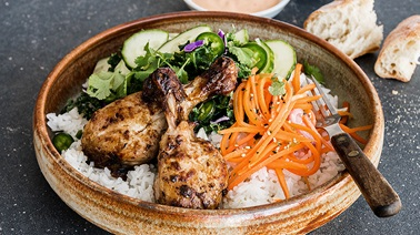 Banh Mi Chicken Drumstick Bowl