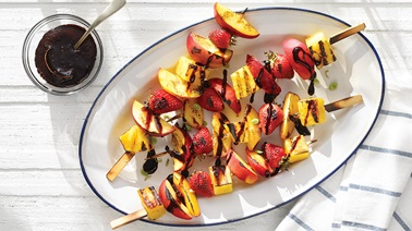 Peach brochettes