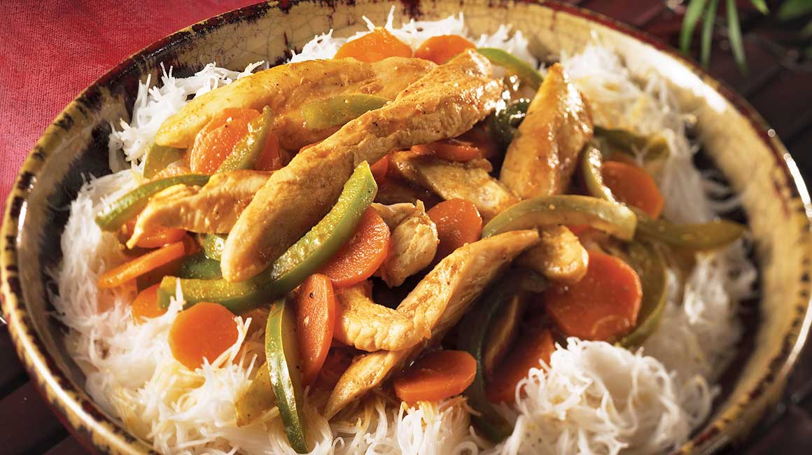 Chicken and green pepper curry