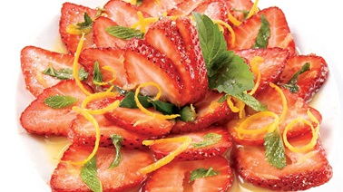 Strawberry carpaccio