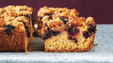 Blueberry-butter squares