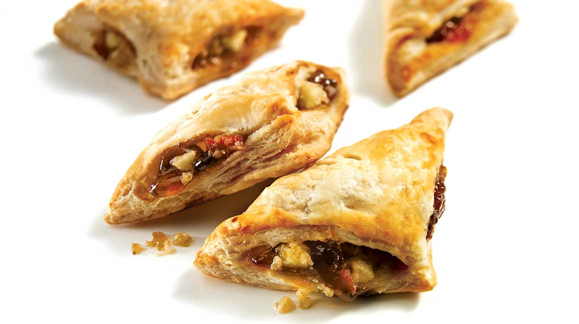 Apple and spanish cheese turnovers