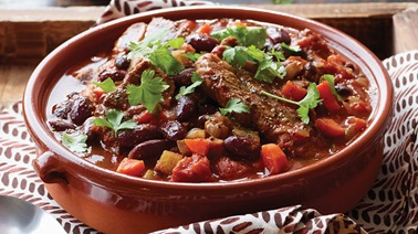 Slow cooker pork short rib chili