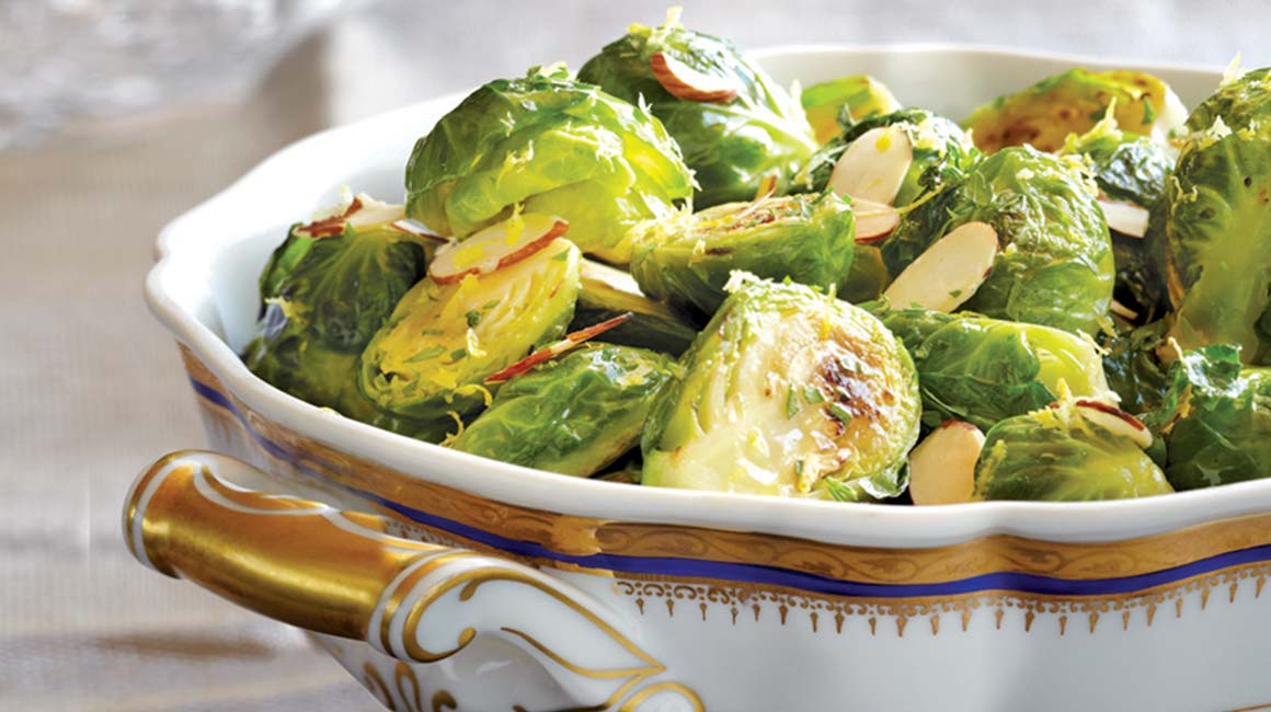 Almond, parsley, and balsamic Brussels sprouts