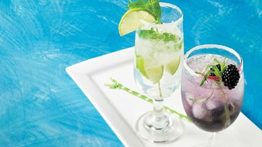 Fresh herb summer cocktails
