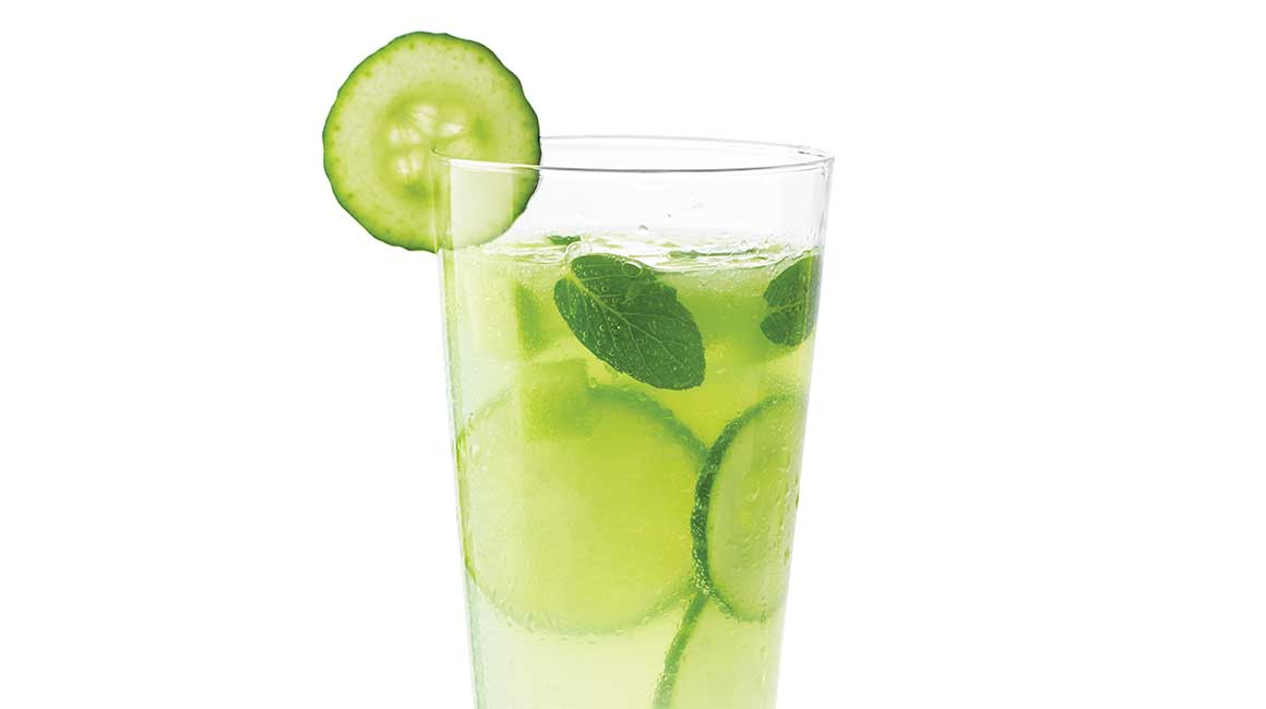 Honeydew melon and cucumber cocktail