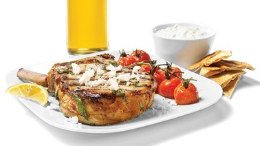 Beer and herb pork chops